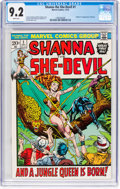 Bronze Age (1970-1979):Miscellaneous, Shanna the She-Devil #1 (Marvel, 1972) CGC NM- 9.2 White pages....