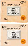 Miscellaneous, Black and Brown Stamp Albums (2) Promoting Black-Owned Businesses.... (Total: 2 Items)