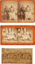 Photography:Stereo Cards, Two Stereoviews and Unmounted Stereoview. ...