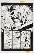 Original Comic Art:Panel Pages, Howard Porter and John Dell JLA #28 Story Page 4 Flash and Jay Garrick Original Art (DC, 1999)....