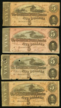 Confederate Notes:1864 Issues, T68 $10 1864 (4);. T69 $5 1864 (4).. Very Good or Better.. ... (Total: 8 notes)