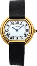 Timepieces:Wristwatch, Cartier, Ellipse, 18K Yellow Gold, Manual Wind, Ref. 977, Circa 1977. ...