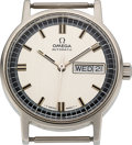 Timepieces:Wristwatch, Omega, Day/Date Automatic, Stainless Steel, Ref. 166.0140, Circa 1970. ...