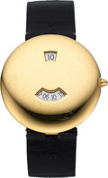 Timepieces:Wristwatch, Chaumet, Very Fine Jump Hour, 18K Yellow Gold, Automatic, Ref. 10A-617, Circa 1990s . ...