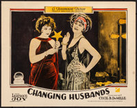 "Changing Husbands (Paramount, 1924). Very Fine-. Lobby Card (11"" X 14""). Comedy"