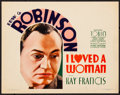 "Movie Posters:Drama, I Loved a Woman (First National, 1933). Very Fine. Title Lobby Card(11"" X 14""). Drama.. ..."