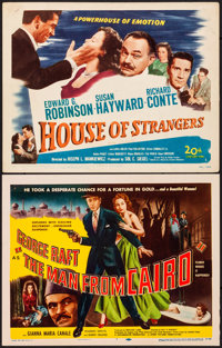 """House of Strangers & Other Lot (20th Century Fox, 1949). Very Fine-. Title Lobby Cards (2) (11"""" X 14""""). Fi..."""