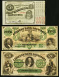 Obsoletes By State:Louisiana, A Trio of Louisiana Bank Notes from Baton Rouge and Shreveport ca. 1860-1878 About Uncirculated or better.. ... (Total: 3 notes)