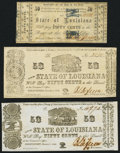 Obsoletes By State:Louisiana, Shreveport, LA- State of Louisiana 50¢ Mar. 1, 1864 Cr. 20; Cr. 21; Cr. 21G About Uncirculated; About Uncirculated; Fine.... (Total: 3 notes)