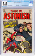 Silver Age (1956-1969):Superhero, Tales to Astonish #35 (Marvel, 1962) CGC VF- 7.5 Off-white to whitepages....
