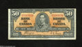 Canadian Currency: , BC-26c $50 1937...