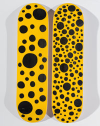 Yayoi Kusama X MoMa Dots Obsession (Yellow) (two works), 2018 Offset lithograph in colors on skate d