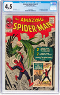 Silver Age (1956-1969):Superhero, The Amazing Spider-Man #2 (Marvel, 1963) CGC VG+ 4.5 Whitepages....