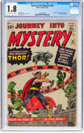 Silver Age (1956-1969):Superhero, Journey Into Mystery #83 (Marvel, 1962) CGC GD- 1.8 Off-white to white pages....