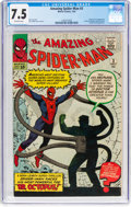 Silver Age (1956-1969):Superhero, The Amazing Spider-Man #3 (Marvel, 1963) CGC VF- 7.5 Off-whitepages....