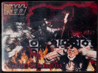 KISS Lot (1999). Very Fine/Near Mint. Lenticular Card & World Tour Commemorative Collectable Lenticular Card (Approx...