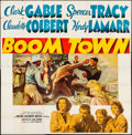 "Movie Posters:Drama, Boom Town (MGM, 1940). Folded, Fine. Six Sheet (79"" X 80"") GeraldLeake Artwork. Drama...."