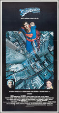 """Movie Posters:Action, Superman the Movie (Warner Brothers, 1978). Folded, Very Fine. International Three Sheet (41"""" X 78.5""""). Action.. ..."""