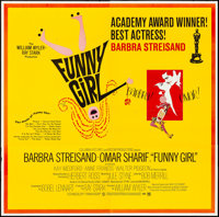 "Funny Girl (Columbia, 1968). Folded, Very Fine-. Six Sheet (80"" X 78.5"") Academy Award Style, Bob Peak Artwork..."