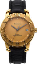 Timepieces:Wristwatch, Tiffany & Co., Very Fine Atlas Automatic, 18K Yellow Gold, Full Set, Ref. 18014475, Circa 2005. ...