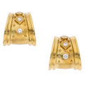 Estate Jewelry:Earrings, Diamond, Gold Earrings, SeidenGang. ...