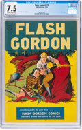 Golden Age (1938-1955):Science Fiction, Four Color #173 Flash Gordon (Dell, 1947) CGC VF- 7.5 Off-white to white pages....