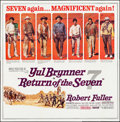 """Movie Posters:Western, Return of the Seven (United Artists, 1966). Folded, Very Fine. Six Sheet (79"""" X 80""""). Western.. ..."""