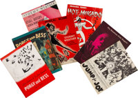 Group of Songbooks and Programs (7) circa 1950s