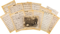 Twelve Musical Compositions by Maceo Jefferson with Note and Photograph