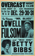 Miscellaneous:Broadside, Overcast Night Club Featuring Lowell Fulsom and Betty Bibbs Poster....