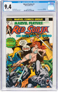 Bronze Age (1970-1979):Adventure, Marvel Feature (2nd Series) #1 Red Sonja (Marvel, 1975) CGC NM 9.4 White pages....