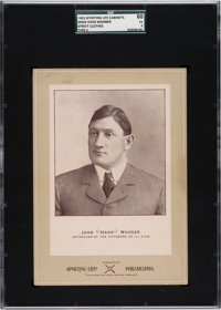 "1902-11 W600 Sporting Life - Type 2 Honus Wagner (Street Clothes-John ""Hans"" Wagner) SGC 60 EX 5!"