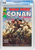Magazines:Adventure, Savage Sword of Conan #1 (Marvel, 1974) CGC NM/MT 9.8 Off-white to white pages....