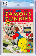 Golden Age (1938-1955):Humor, Famous Funnies #154 (Eastern Color, 1947) CGC VF/NM 9.0 Off-white to white pages....
