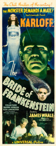 "Movie Posters:Horror, The Bride of Frankenstein (Universal, 1935). Fine/Very Fine onPaper. Insert (14"" X 36"").. ..."