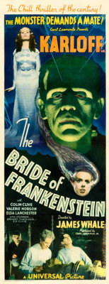 "The Bride of Frankenstein (Universal, 1935). Fine/Very Fine on Paper. Insert (14"" X 36"")"