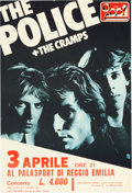 Music Memorabilia:Posters, The Police/Cramps Concert Poster (1980)....