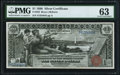 Large Size:Silver Certificates, Fr. 225 $1 1896 Silver Certificate PMG Choice Uncirculated 63.. ...