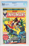 Bronze Age (1970-1979):Superhero, The Inhumans #1 (Marvel, 1975) CBCS NM 9.4 Off-white to white pages....