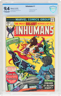 The Inhumans #1 (Marvel, 1975) CBCS NM 9.4 Off-white to white pages