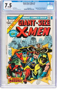 Giant-Size X-Men #1 (Marvel, 1975) CGC VF- 7.5 Off-white to white pages