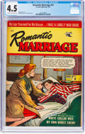Golden Age (1938-1955):Romance, Romantic Marriage #23 (St. John, 1954) CGC VG+ 4.5 Cream tooff-white pages....