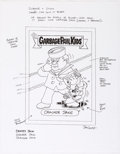 "Original Comic Art:Miscellaneous, Jay Lynch Garbage Pail Kids ""Cracker Jake"" Card Preliminary Illustration Original Art (Topps, c. 2000s)...."