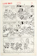 Original Comic Art:Panel Pages, Marie Severin and Jon D'Agostino Muppet Babies #23 StoryPage 2 Original Art (Marvel, 1989)....