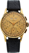 Timepieces:Wristwatch, Tourneau Vintage Chronograph With Calendar, Later Case Back. ...