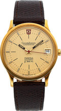 Timepieces:Wristwatch, Omega 18k Gold Constellation Chronometer Electronic f 300 Hz, circa 1970. ...