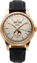 Timepieces:Wristwatch, Rolex Rare Ref. 8171 Rose Gold Triple Calendar Wristwatch With Moon Phases, circa 1950's. ...
