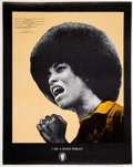 Miscellaneous:Broadside, Richard McCrary I Am A Black Woman Angela Davis Poster....