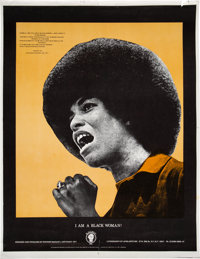 Richard McCrary I Am A Black Woman Angela Davis Poster