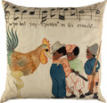Entertainment Collectibles:Music, Who Dat Say Chicken In Dis Crowd Sheet Music and Pillow. ...(Total: 2 Items)